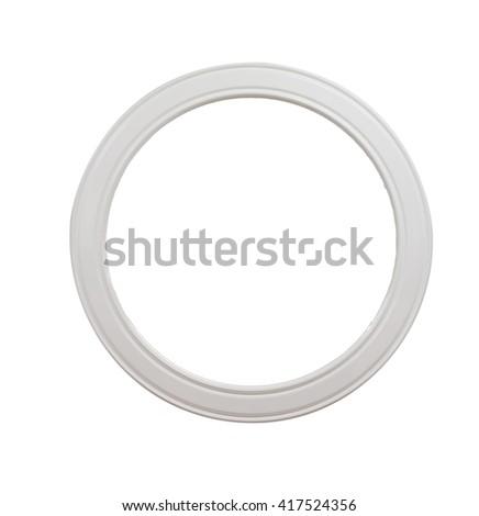 Vintage Ceramic Oval Frame Isolated On White Background Ez Canvas