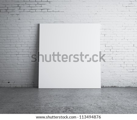 blank picture hanging on wall