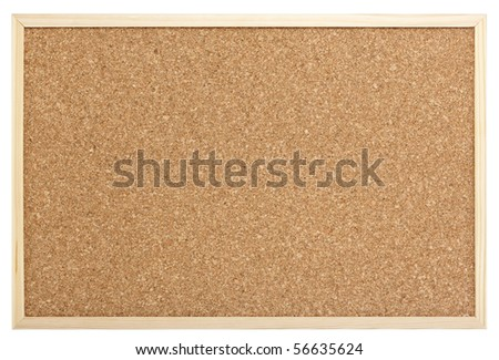 blank pin board isolated with clipping path