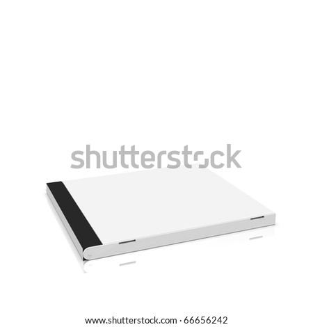 Blank plastic CD box on white background