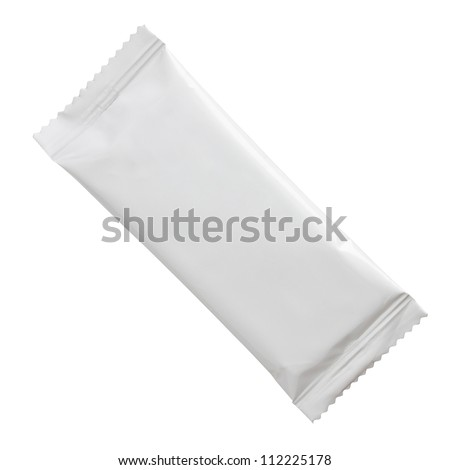 Blank plastic stick packaging isolated on white