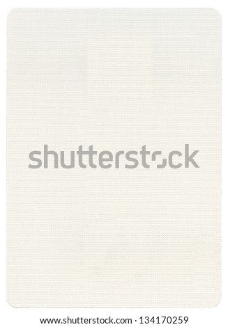 Blank playing card, isolated on white background.