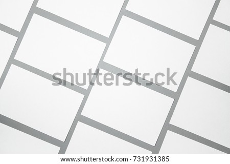 Blank portrait mock-up paper. brochure magazine isolated on gray, changeable background / white paper isolated on gray #731931385