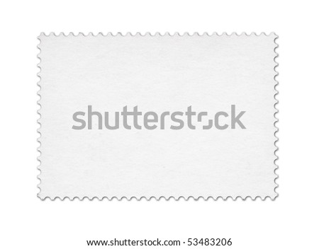 Blank post stamp scanned with high resolution. Saved with clipping path.