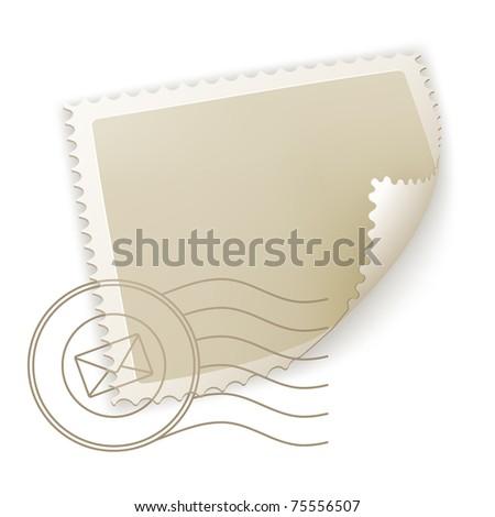 Blank Postage Stamp, bitmap copy