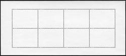 Blank postage stamp block souvenir sheet on black background