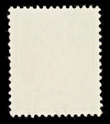 Blank Postage Stamp Framed by Black Border