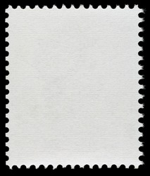 Blank Postage Stamp Isolated on Black Background