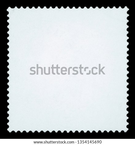 Blank Postage Stamp - Isolated on black background.  #1354145690