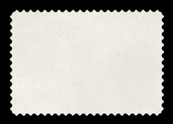 Blank postage stamp - Isolated on Black (Clipping path included)