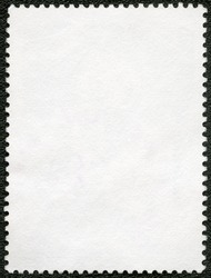 Blank postage stamp sheet on a black background