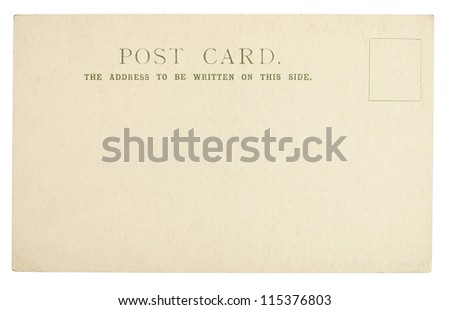 Blank Postcard Isolated on White