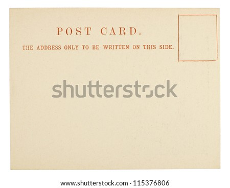 Blank Postcard Isolated on White - stock photo