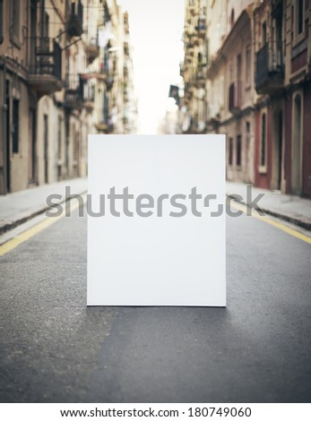Blank poster on a street