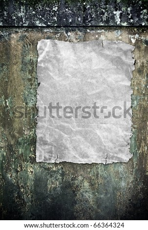 blank poster on grunge wall