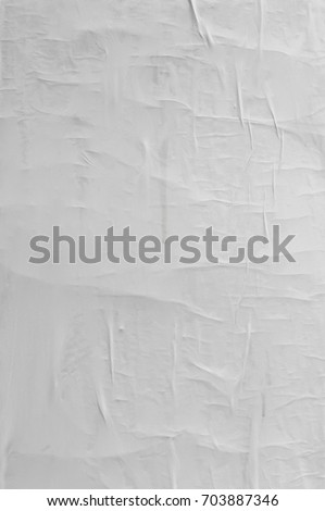 Blank poster texture. Creased, crumpled paper