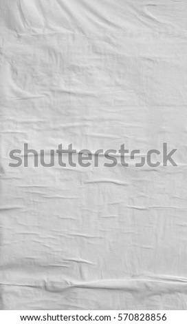 Blank poster texture. Crumpled paper #570828856