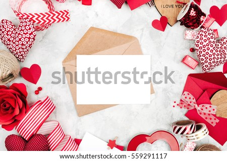 Photo of  Blank present Valentine card