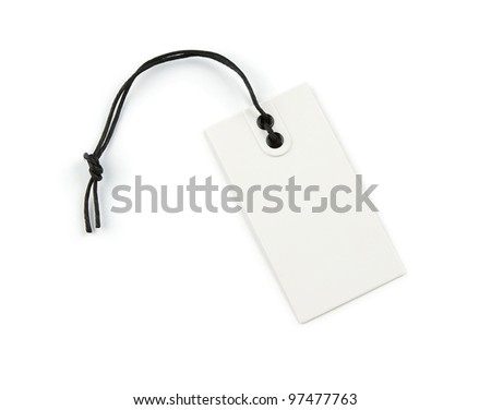 Blank price label isolated on white background