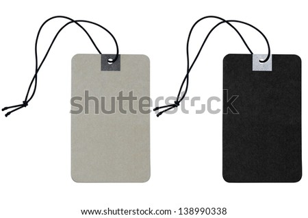 blank price label on white background include clipping path