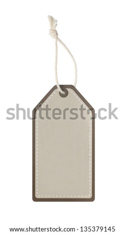 Blank price tag hanger