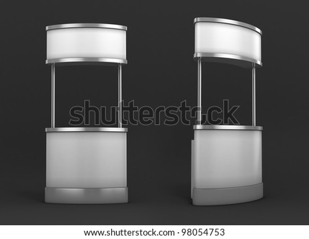 blank promotion 3d counter on dark background