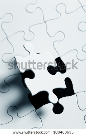 Blank Puzzle, business concept of Solution