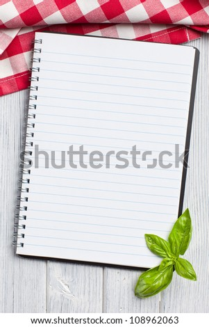 Blank Recipe Book On Kitchen Table
