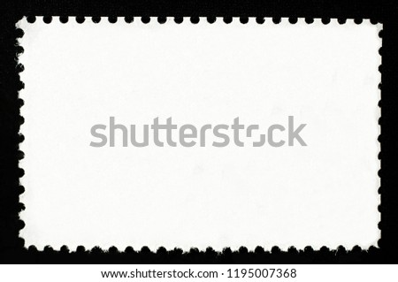 Blank rectangular postage stamp. #1195007368