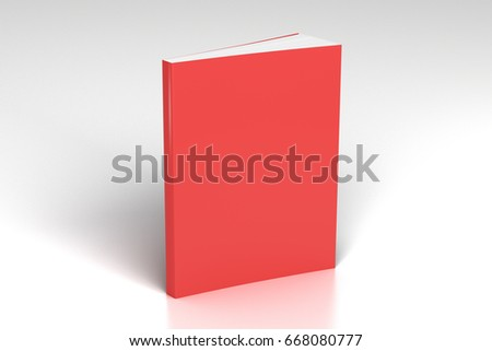 blank red vertical soft cover...