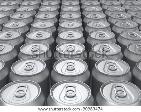 Blank rendered cans background.