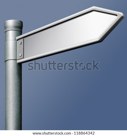 blank road sign arrow with copy space