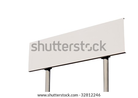 Blank Road Sign without frame, isolated