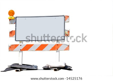 Blank Road Work Sign