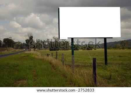 blank roadside sign