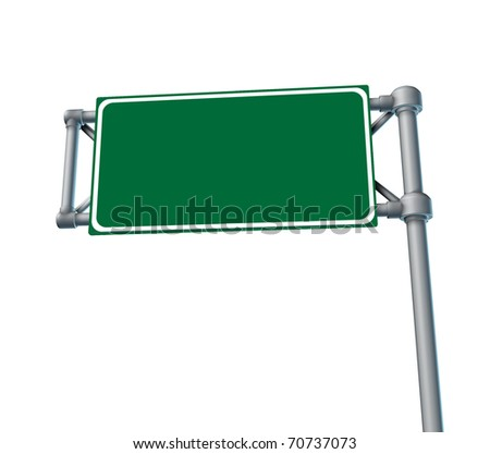 Blank Roadsign highway freeway road street symbol isolated