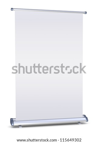 Blank roll-up banner