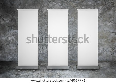 Blank Roll up display,Poster showing,3 d rendered
