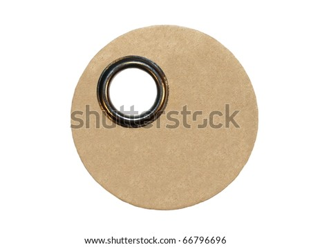 Blank round label, price tag, gift tag, sale tag, address label, isolated on white background