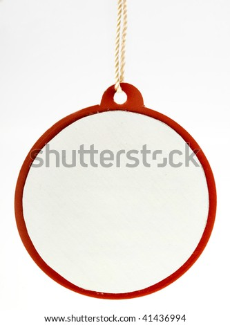 Blank round tag card isolated on white background
