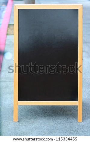 Blank sandwich board sign - stock photo