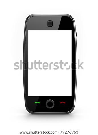 Blank screen cellphone - stock photo