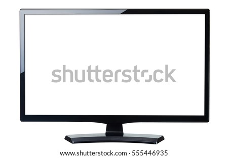 blank screen monitor tv isolated on white