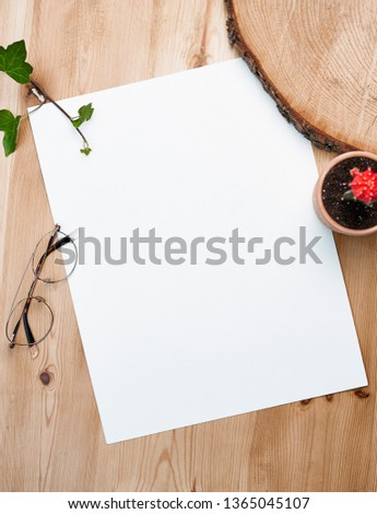 blank sheet to enter content