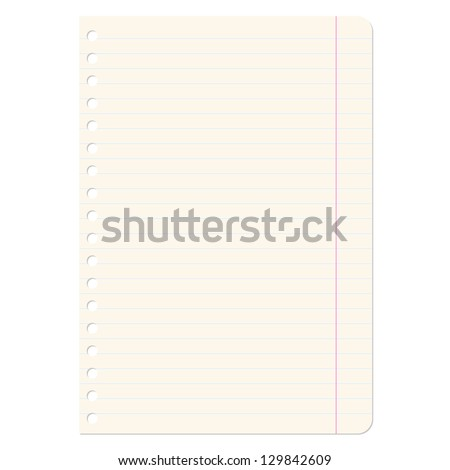 Blank sheets of paper sheet in line.  illustration.