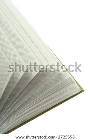 Blank sheets of photoalbum