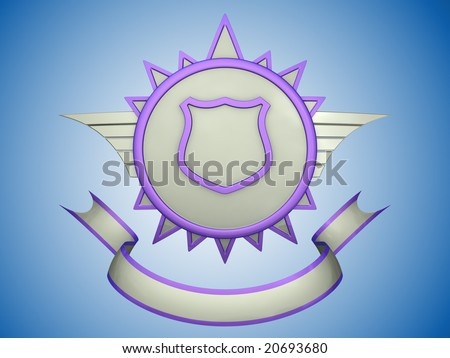blank shield clip art. stock photo : Blank shield