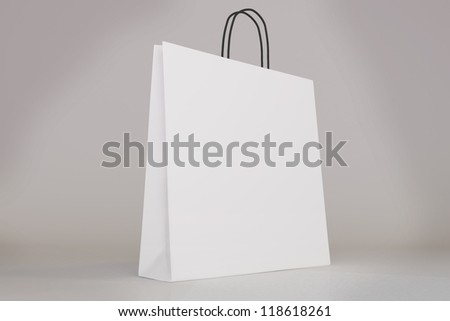 Shopping Bags Design Template Blank Shopping Bag Template