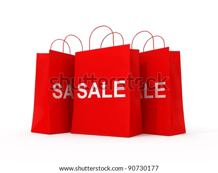Blank Shopping Red Bags