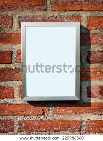 blank sign at a wall - background with space for text